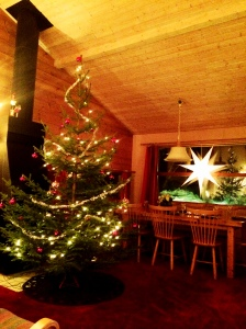 egenhuggen julgran i Sälen
